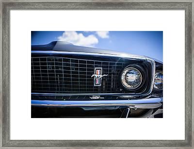 1969 Ford Mustang Grille Emblem -0129c Framed Print by Jill Reger