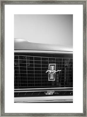 1969 Ford Mustang Grille Emblem -0133bw Framed Print by Jill Reger