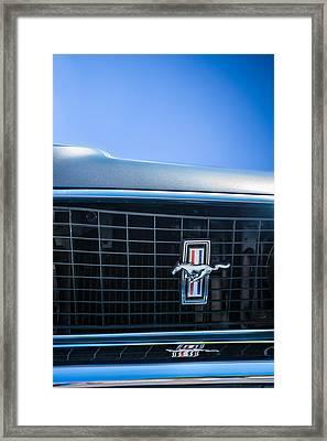 1969 Ford Mustang Grille Emblem -0133c Framed Print by Jill Reger