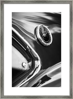 1969 Ford Mustang Mach 1 Side Emblem -1106bw Framed Print by Jill Reger