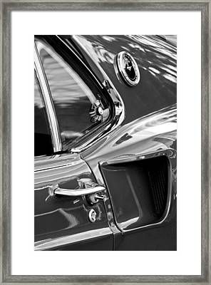 1969 Ford Mustang Mach 1 Side View -1098bw Framed Print by Jill Reger