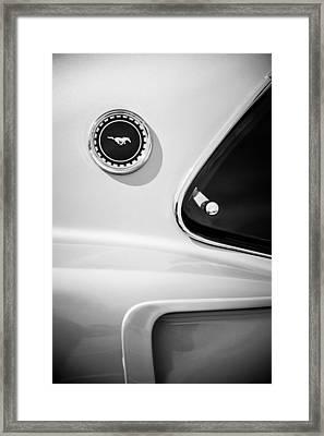 1969 Ford Mustang Mach I Side Emblem -0456bw Framed Print by Jill Reger