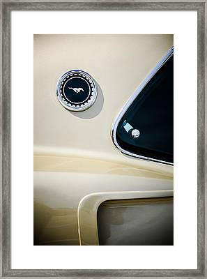 1969 Ford Mustang Mach I Side Emblem -0456c Framed Print by Jill Reger