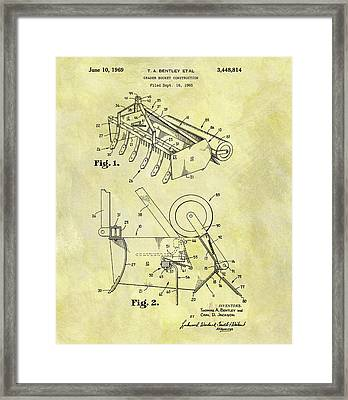 1969 Grader Bucket Patent Framed Print by Dan Sproul