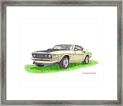 1969 Mustang Fastback Framed Print by Jack Pumphrey