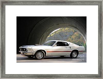 1969 Mustang Mach I Fasback Framed Print