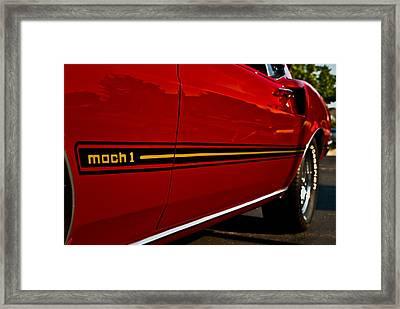 1969 Mustang Mach I Framed Print