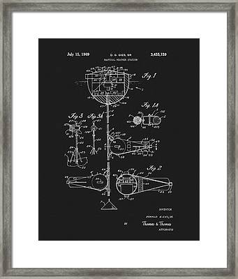 1969 Nautical Weather Station Patent Framed Print