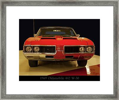 Framed Print featuring the photograph 1969 Oldsmobile 442 W-30 by Chris Flees
