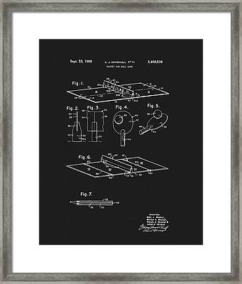 1969 Ping Pong Table Patent Framed Print