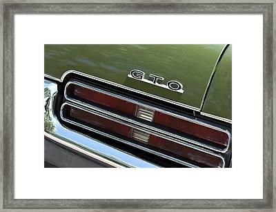 1969 Pontiac Gto Taillight Emblem Framed Print
