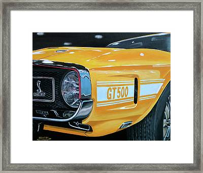 1969 Shelby Gt500 Framed Print by Branden Hochstetler