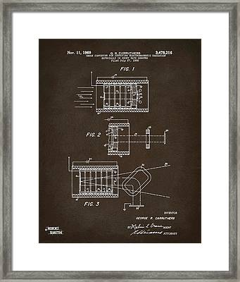 Framed Print featuring the digital art 1969 Short Wave Electromagnetic Radiation Patent Espresso by Nikki Marie Smith