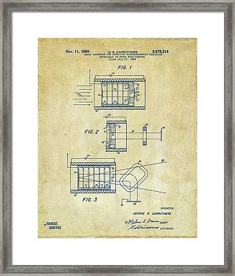 Framed Print featuring the digital art 1969 Short Wave Electromagnetic Radiation Patent Vintage by Nikki Marie Smith