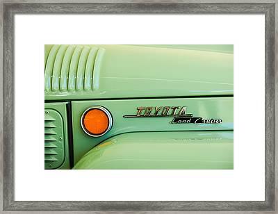 1969 Toyota Fj-40 Land Cruiser Emblem -0441c Framed Print by Jill Reger