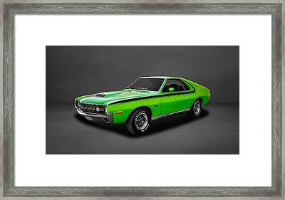 1970 Amc Amx 390 Cubic Inch 4-speed  -  70amcamx3 Framed Print