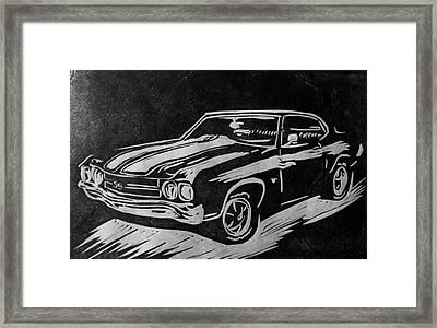 1970 Chevelle Framed Print by Alisha Floy