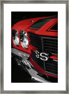 1970 Chevelle Ss396 Ss 396 Red Framed Print by Gordon Dean II