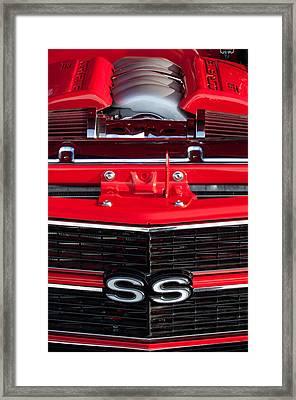 1970 Chevrolet Chevelle Ss Grille Emblem - Engine -0171c Framed Print by Jill Reger