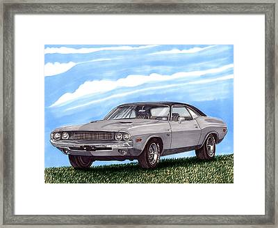 1970 Dodge Challenger Framed Print by Jack Pumphrey