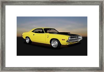 1970 Dodge Challenger R/t 440 Six Pack    -    1970challenger4406pack170213 Framed Print by Frank J Benz