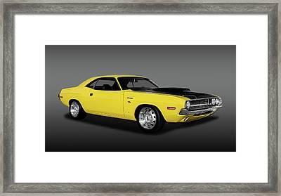1970 Dodge Challenger R/t 440 Six Pack  -   1970dodgechallenger440fa170213 Framed Print by Frank J Benz