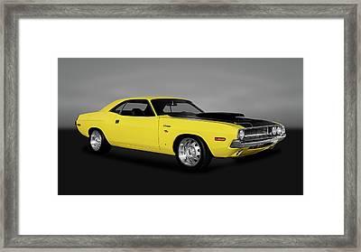 1970 Dodge Challenger R/t 440 Six Pack   -   1970dodgechallengerrtgry170213 Framed Print by Frank J Benz