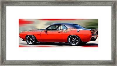 1970 Dodge Challenger Srt Framed Print by Maria Urso