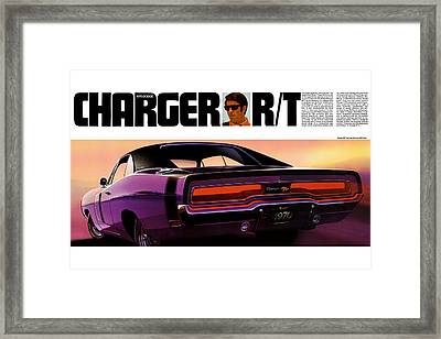1970 Dodge Charger Rt Framed Print by Digital Repro Depot