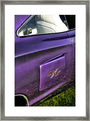 1970 Dodge Coronet Rt - Plum Crazy Purple Framed Print by Gordon Dean II