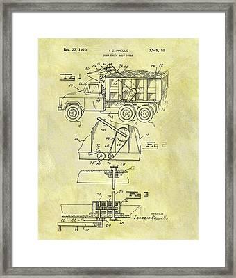 1970 Dump Truck Cover Framed Print