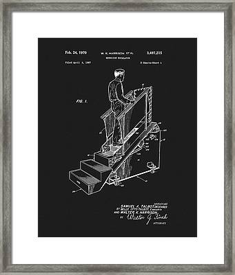 1970 Exercise Machine Patent Framed Print by Dan Sproul