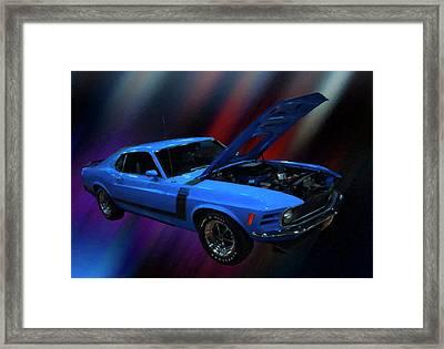 1970 Ford Mustang Boss 302 Digital Oil Framed Print