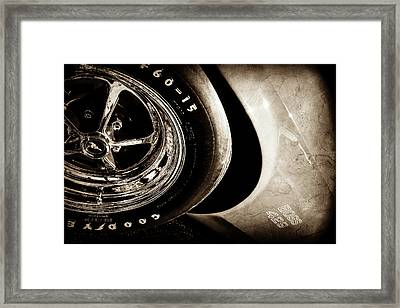 1970 Ford Mustang Boss 429 Wheel Emblem -0387s Framed Print by Jill Reger