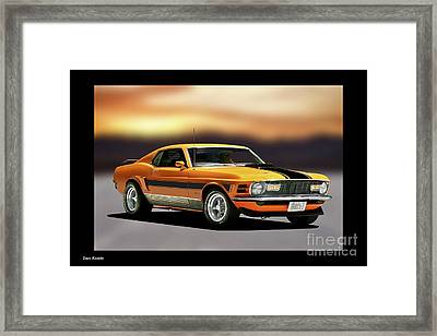 1970 Ford Mustang Mach I Framed Print