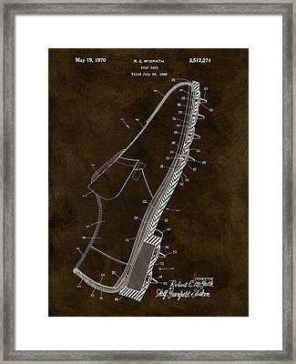 1970 Golf Shoe Patent Framed Print