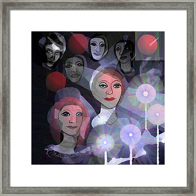 Framed Print featuring the digital art 1970 - A Ceremony by Irmgard Schoendorf Welch