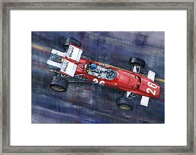 1970 Monaco Gp Ferrari 312 B Jacky Ickx  Framed Print by Yuriy Shevchuk