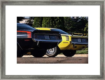 1970 Plymouth 'cuda 440 And Hemi Framed Print by Gordon Dean II
