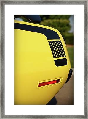 1970 Plymouth Hemi Cuda Drivers Rear Hockey Stripe Framed Print by Gordon Dean II