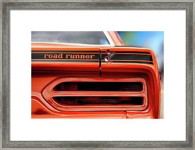 1970 Plymouth Road Runner - Vitamin C Orange Framed Print