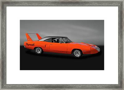 Framed Print featuring the photograph 1970 Plymouth Road Runner Superbird  -  1970plysuperbirdgry170528 by Frank J Benz