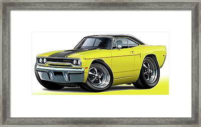 1970 Roadrunner Yellow Car Framed Print by Maddmax