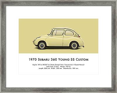 1970 Subaru 360 Young Ss Custom Framed Print by Ed Jackson
