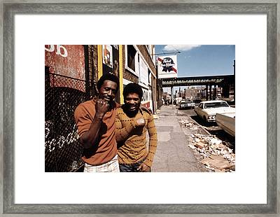 1970s America. Two Young Men Framed Print by Everett