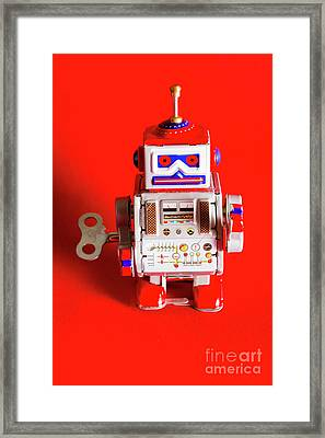 1970s Wind Up Dancing Robot Framed Print by Jorgo Photography - Wall Art Gallery