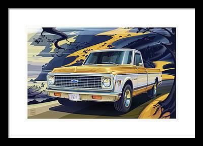 Trucks Framed Prints