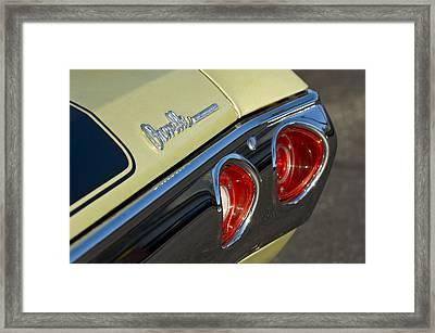 1971 Chevrolet Chevelle Malibu Ss Tail Light Framed Print by Jill Reger