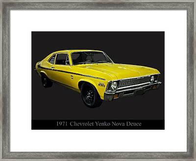 1971 Chevy Nova Yenko Deuce Framed Print by Chris Flees