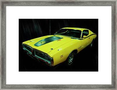 1971 Dodge Charger Superbee 440 Six Pack Digital Oil Framed Print